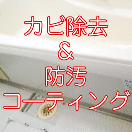 浴室カビ除去&防汚コーティング