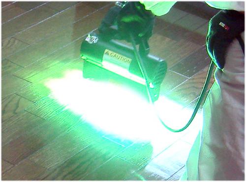 紫外線照射イメージ
